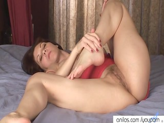 breasty mommy copulates her unshaved cunt