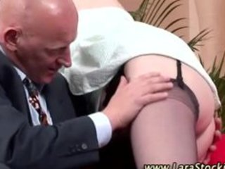 mature lady in nylons receives sexy