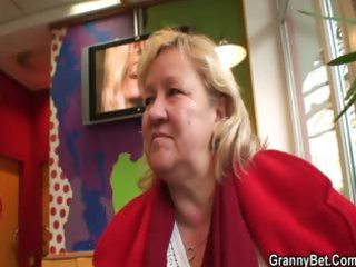 huge granny swallows his concupiscent jock
