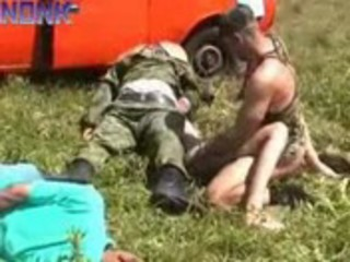 soldier patrol brutally bonks this wife