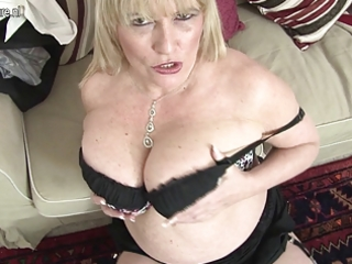 hot british mother shows her great pointer
