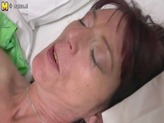 tattooed daughter fucks old lesbian