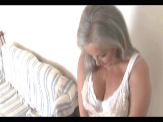 breasty impressive granny in open girdle and