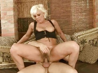 sexy granny acquires her bushy slit drilled hard