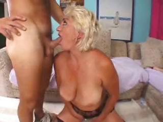 wicked blond granny toys herself then blows cock,