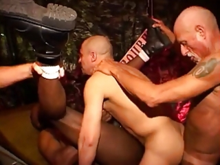 mature orgy in leather