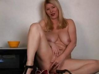 large titties mature in kitchen masturbation