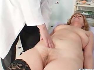 redhead impure pussy stretching in gyn clinic