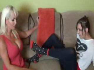 hot blond mom with huge meatballs worships and