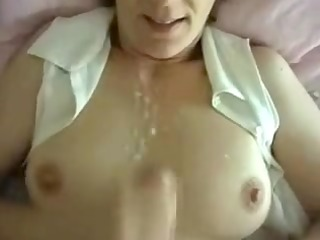 concupiscent wife intimate jizz flow on meatballs