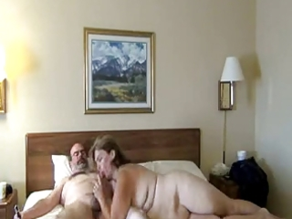 mature woman engulfing