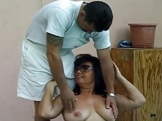 sexy breasty granny fucked by giant cock