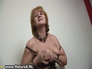 hawt old housewife stripping and playing part6