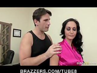 sexy concupiscent executive ava addams massaged