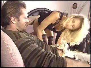 breasty blonde milf fucking in hot darksome nylons