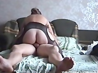 fucking the wife on the sofa