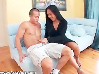 big breasted oriental nympho kitty langdon gives