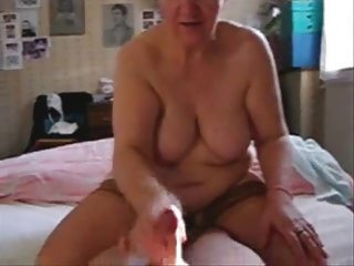 my slut aged aunt jerking my dong