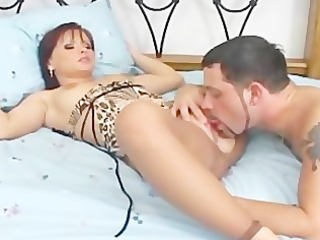fucking and foot fetish in ripped up crotchless