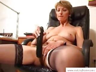 aged stella in her homemade masturbation video