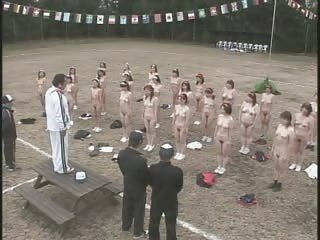 aged japanese chicks undress and exercise