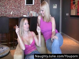 diamond's st strapon – lesbian blond boobs