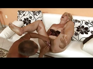 hirsute blond granny is a floozy by troc