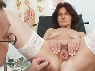 hairy muff grandma visits pervy woman doctor