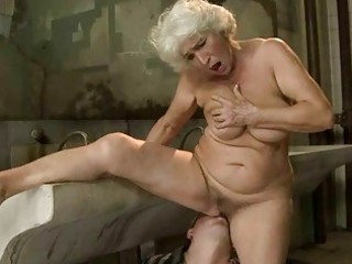 breasty granny acquires screwed in public water