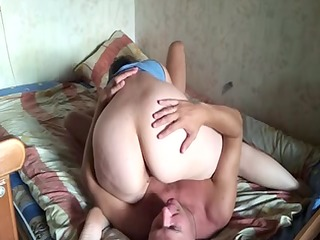 russian older couple at home 11