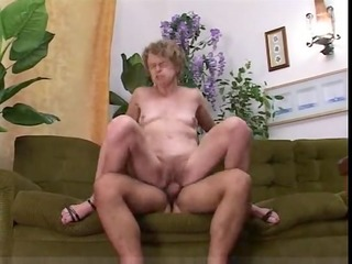 slender granny likes it is in all her holes !