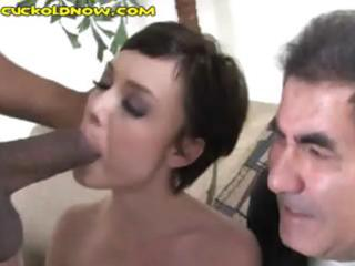 white hubby watches his hot wife acquire hammered