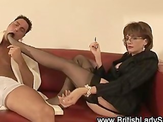 femdom fetish older stockinged playgirl