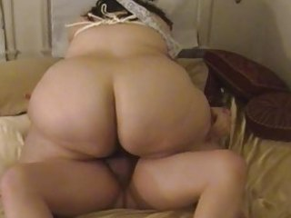 plump wife sucks &; bonks with tied up tits