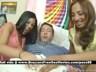 juvenile honeys in bed get a oral pleasure