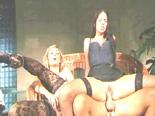 sexy threeway in stockings
