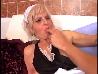 young fella fucks an old granny