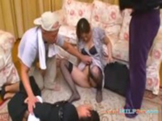 d like to fuck rapped by 0 chaps in front of her