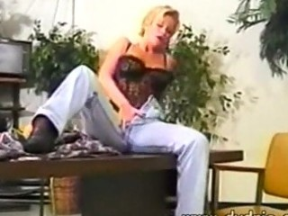 nasty blond d like to fuck plays with her plumber