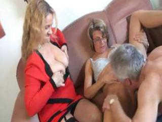 aged german sex therapist makes a abode call and