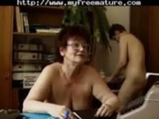 nudist office - 4 aged mature porn granny old