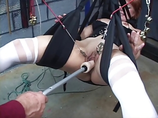 cute, older redhead receives her vagina toyed