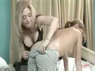 rough lesbo sex lesbian , take up with the tongue