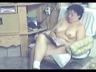 my mum home alone caught masturbating by my