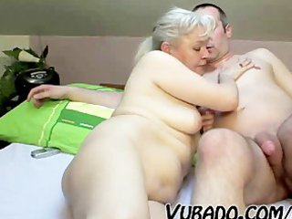 older pair fuck hard on couch