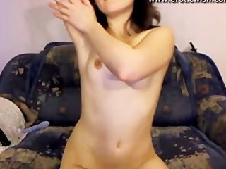 cute russian youthful mother spreads pussy