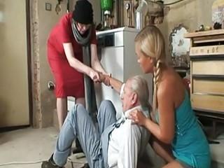 grandpapa desires to smack threesome nice...