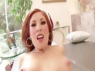 hawt redhead d like to fuck rides cock for facial