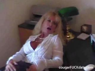 hawt granny cougar in stockings fucks a young man