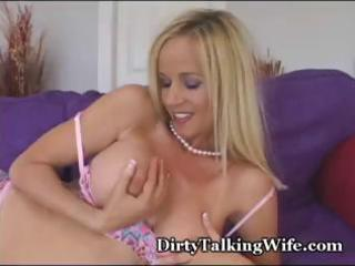 hot, blond d like to fuck plays with her perky